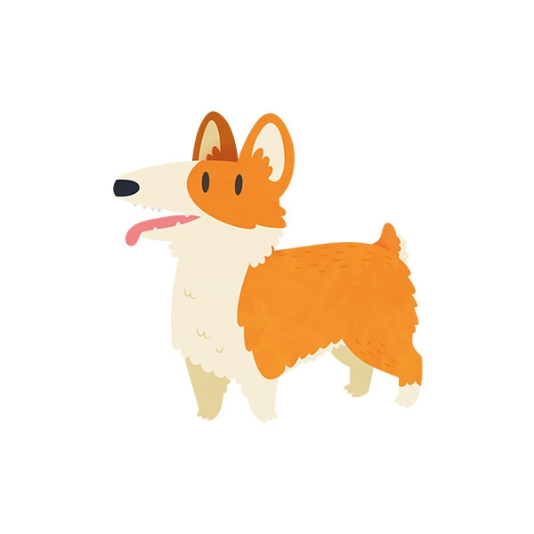 Corgi - corgi, dog, animal, vector - clairestamper | ello
