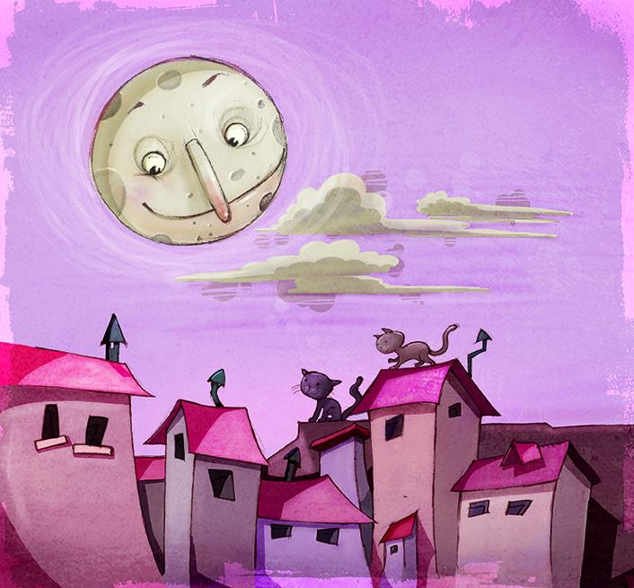Luna - illustration, painting, characterdesign - mikelle123 | ello