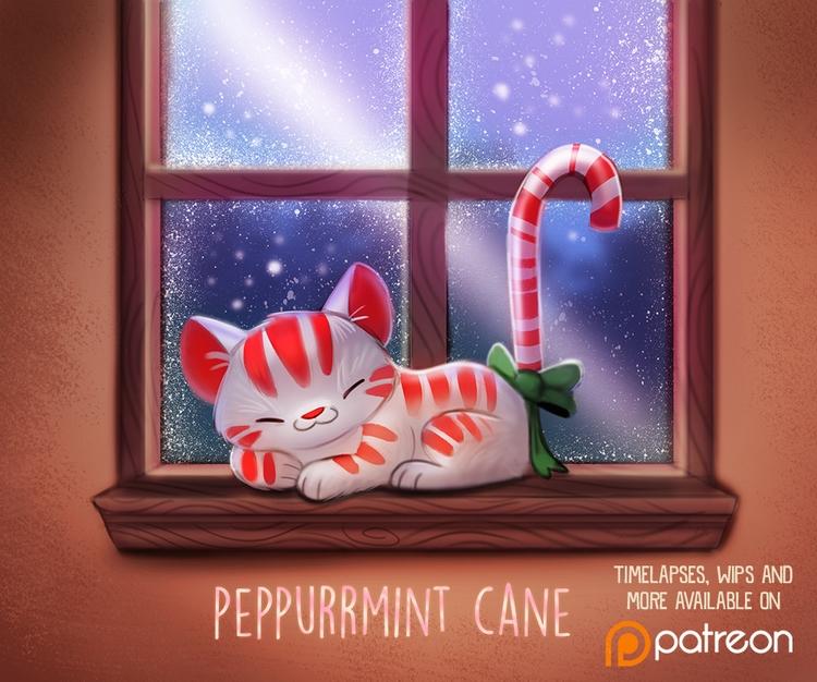 Daily Paint 1489. Peppurrmint C - piperthibodeau | ello