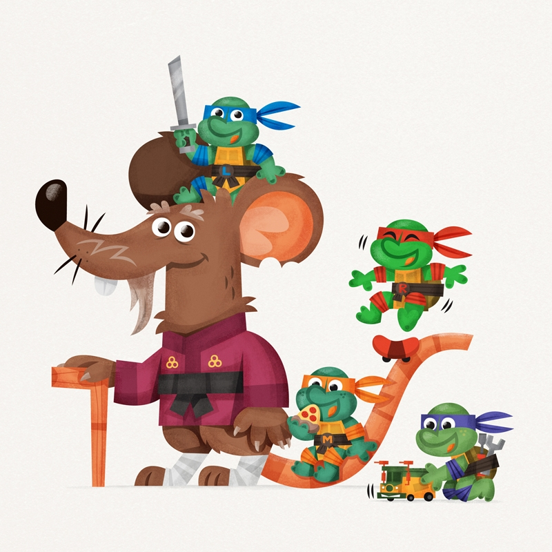 skwirrol, tmnt, turtles, splinter - skwirrol | ello