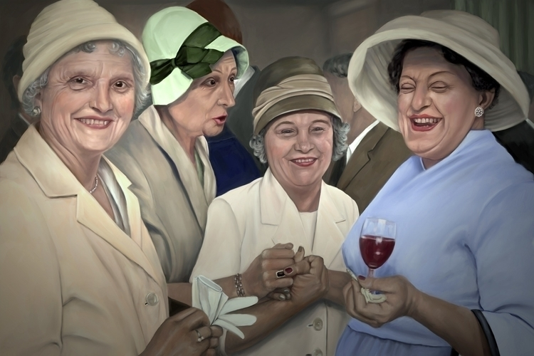 Aunts - illustration, painting, drawing - marjon-4891 | ello