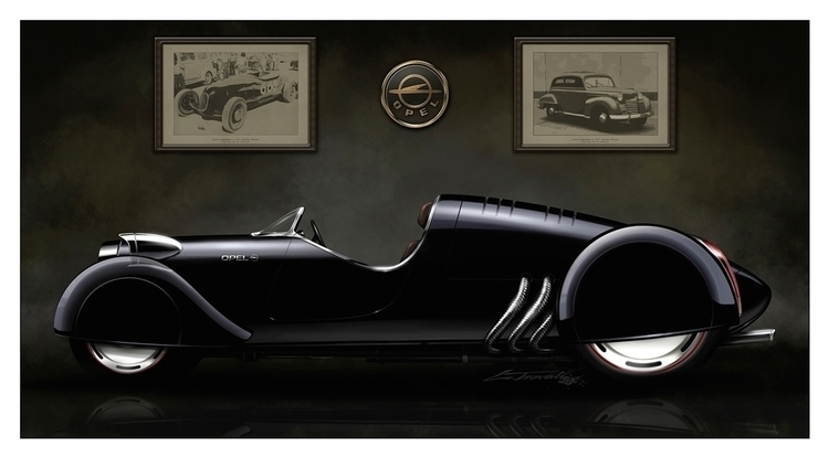 Opel Luxury Rod - #sketch, #hotrod - ltromac | ello