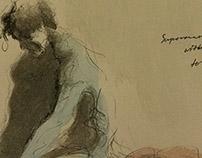 Superman Lost Cape - drawing, gesturedrawing - gabrielbroady | ello