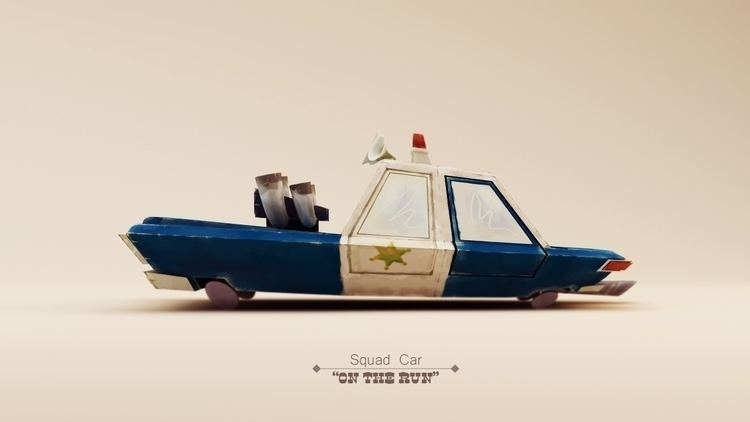Squad Car - animation, cartoon, car - the_rusted_pixel | ello