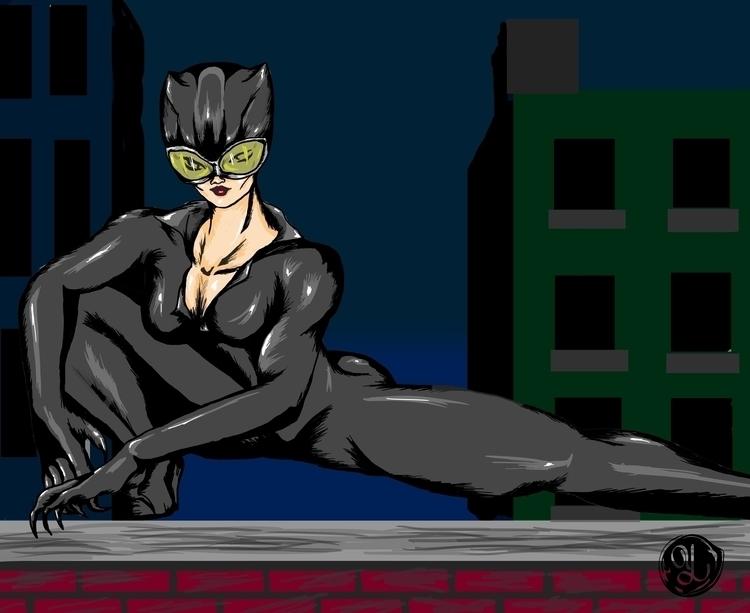 Catwoman - illustration, characterdesign - yaksiart | ello