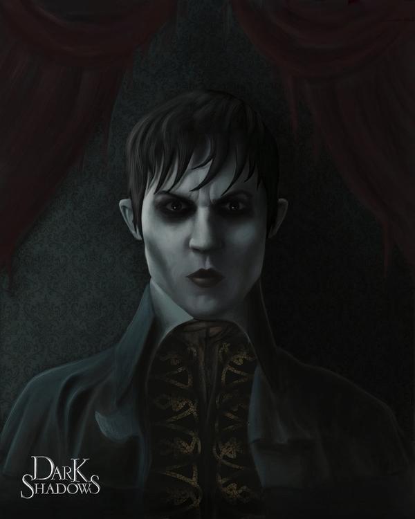 Portrait Barnabas Collins Dark  - alfredmanzanoart | ello