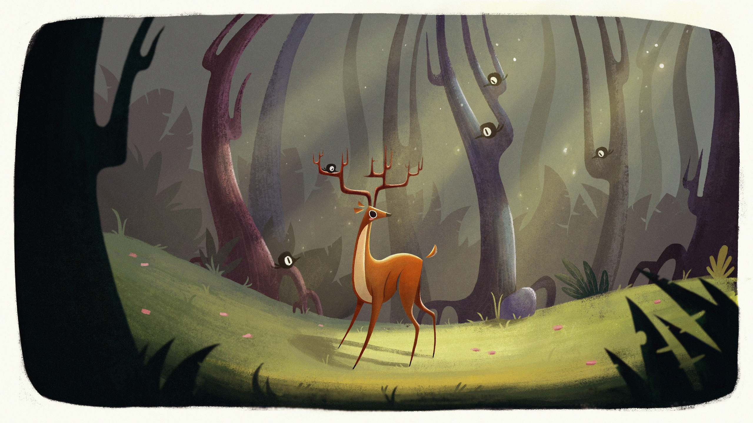 Deer - deer, woods, environment - ashleyodell | ello