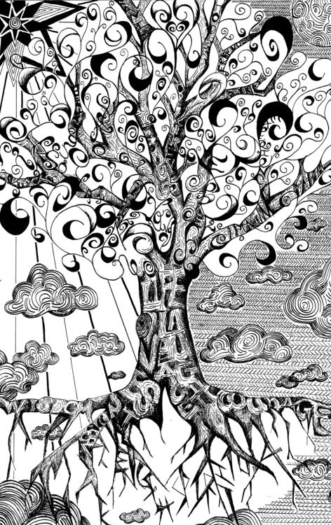 Tree Life - illustration, penandink - kre8-7785 | ello