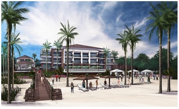 Island Resort Design - illustration - rpoling | ello