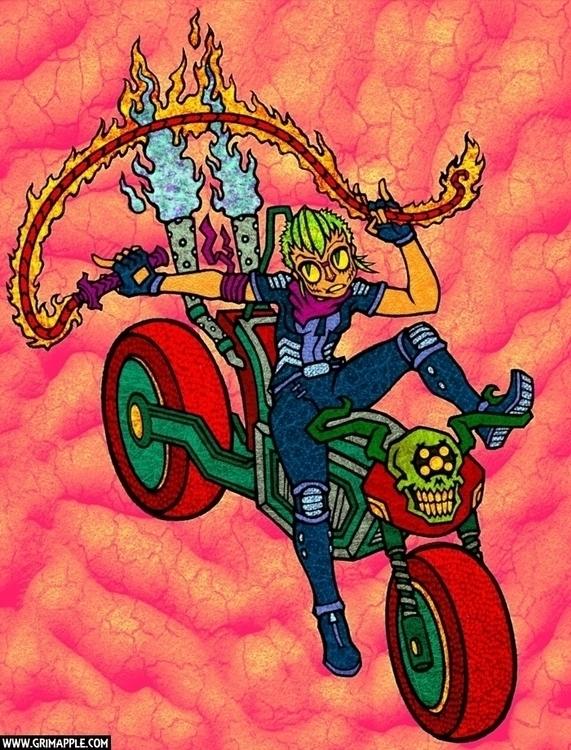 Fire Rider: Rules, Limits, Burn - grimapple | ello
