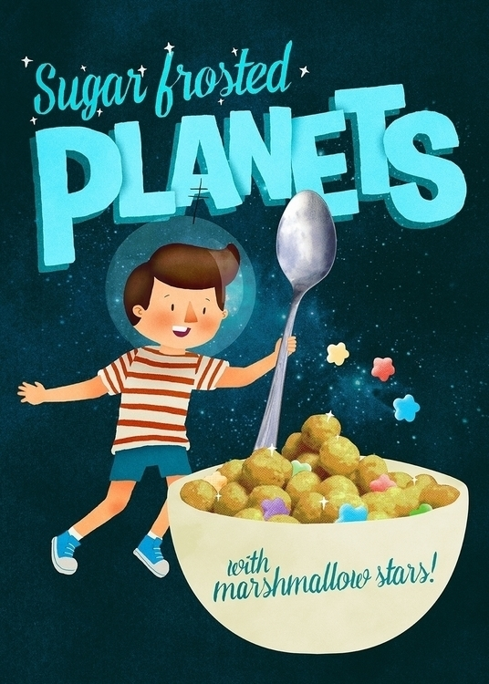 Sugar Frosted Planets - illustration - lindsayjhaynes | ello
