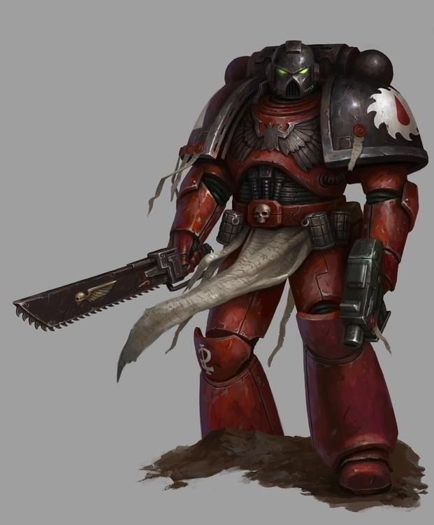 Flesh Tearer - 40k, warhammer, bloodangel - daarken | ello