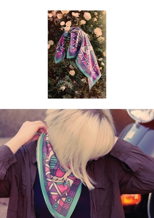 scarf design - squarescarf, blondegirl - laurita_potapova | ello