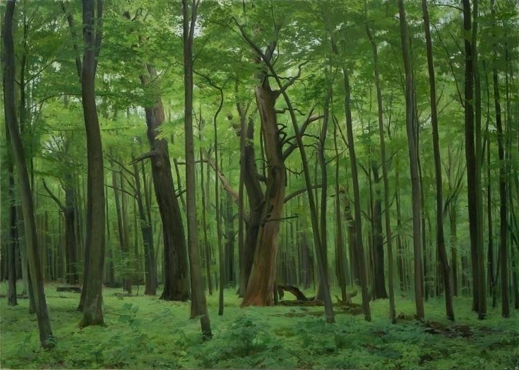 oil board, 61 85 cm - painting, landscape - zdendan   ello