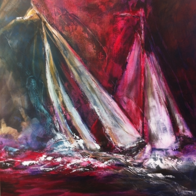 Red sails - sea, sailing, regatta - diananooten | ello