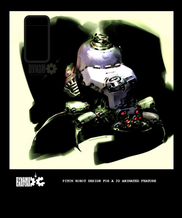Spider-bot - MovieDesign, Robots - theblackfrog | ello