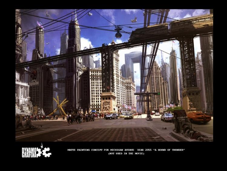 Chicago 2050 - MovieDesign, Cityscape - theblackfrog | ello