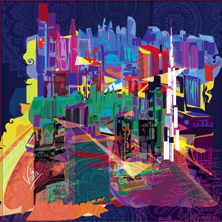 Dubai - illustration, painting - valiaart   ello