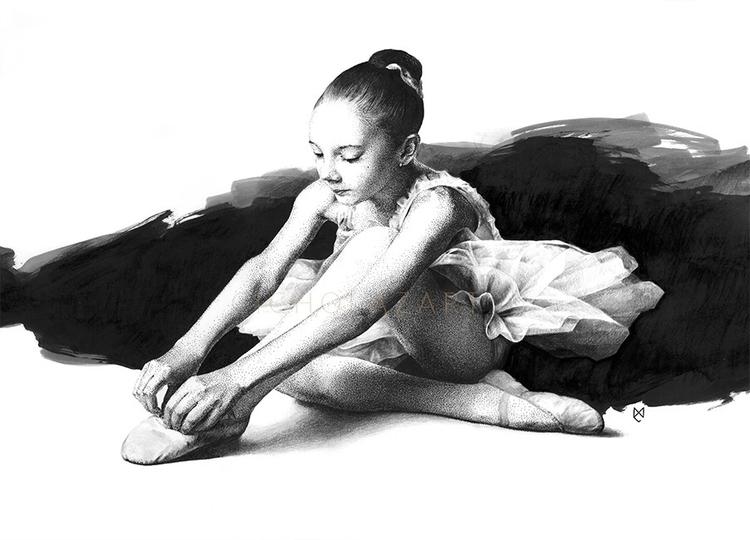 ballerina, 2015, ink - illustration - cicholazart | ello