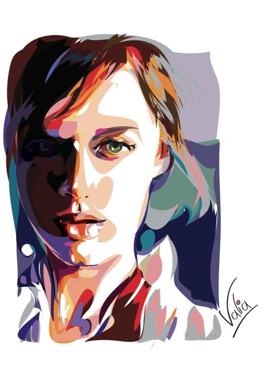 woman - illustration, painting - valiaart | ello