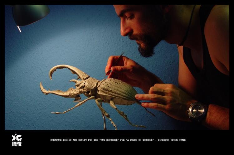 Flesh eating beattle - Sculpt - MovieDesign - theblackfrog | ello