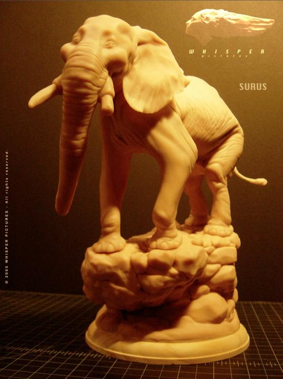 Surus - Tusk Sculpt - animationart - theblackfrog | ello