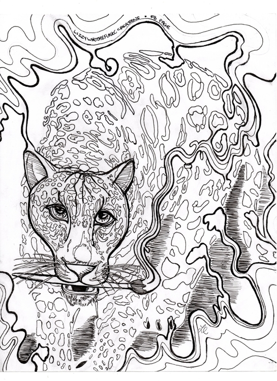 adult coloring page - sketch, illustration - lizzywhothefunkc | ello