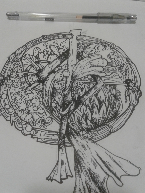number 001 title: origin - doodle - arefasyrf | ello