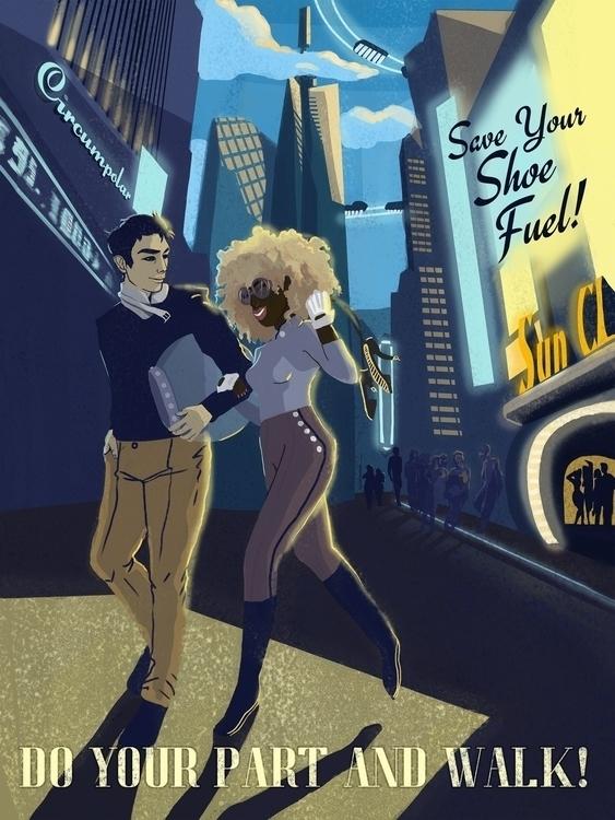 Futuristic Vintage Poster: Save - danielagamba | ello