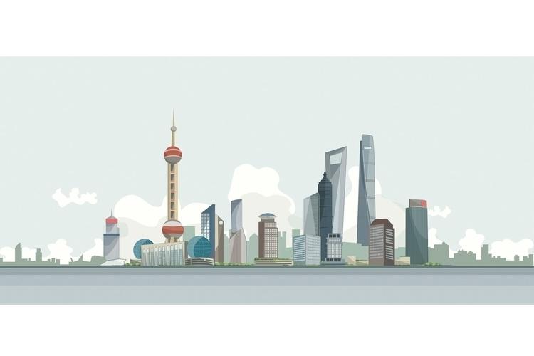 Shanghai - china - illustration - juliettemary | ello