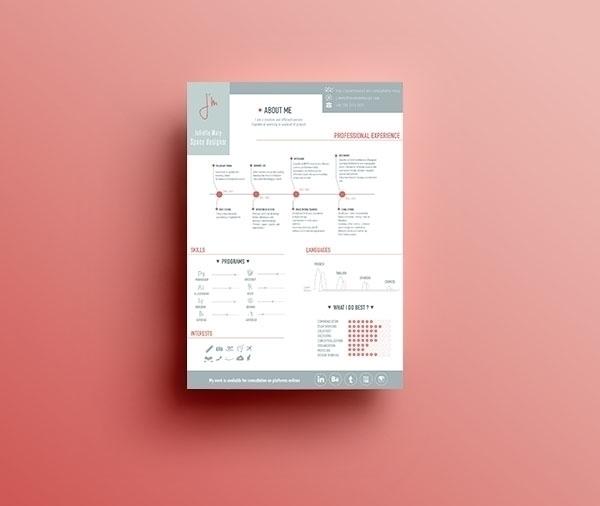Cv - situation - illustration, pink - juliettemary | ello