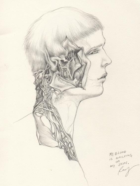 blood walking skin - illustration - juichenhu | ello