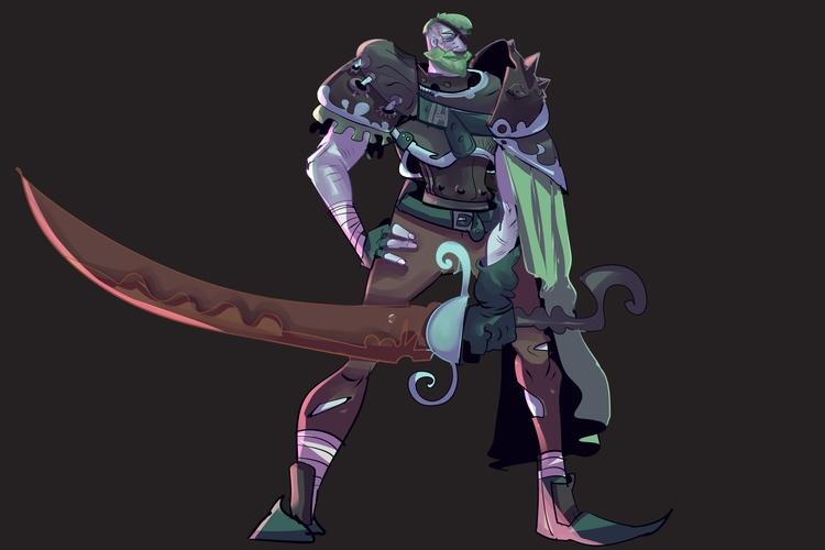 knight, warrior, fantasy, cartoon - brokemypencil | ello