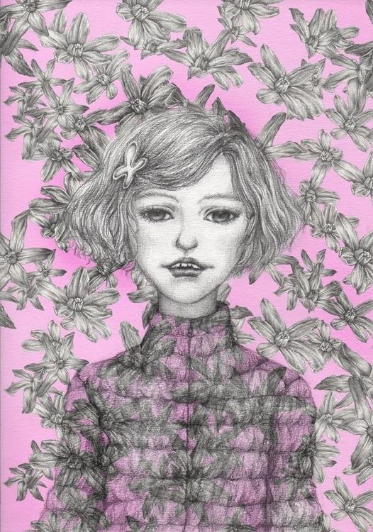 world - illustration, drawing, girl - juichenhu | ello