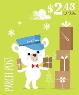 Bear Post   Parcel Amy Cartwrig - amycartwright   ello