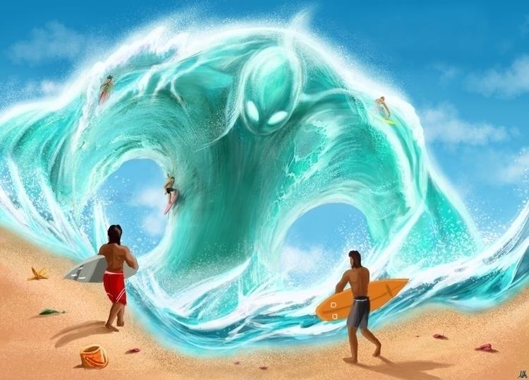 Summer Fun - alfredmanzano, ocean - alfredmanzanoart | ello