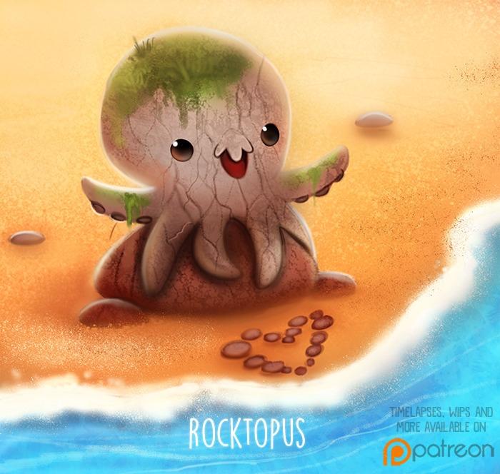 Daily Paint 1503. Rocktopus - piperthibodeau | ello