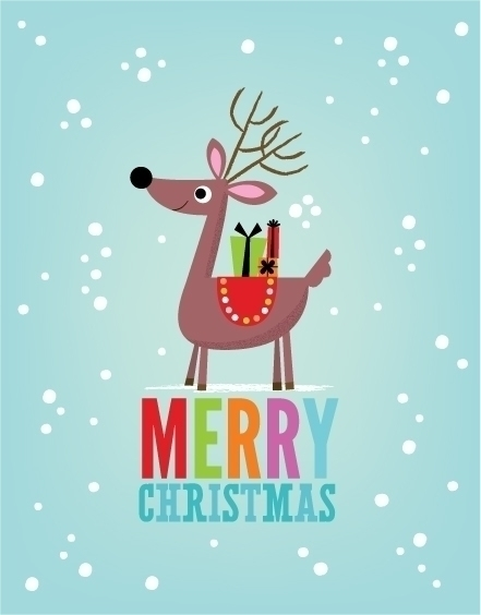 Merry Christmas | Reindeer - holiday - amycartwright | ello