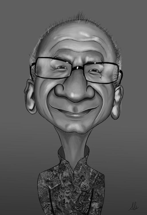 Day caricature - painting, alfredmanzano - alfredmanzanoart | ello