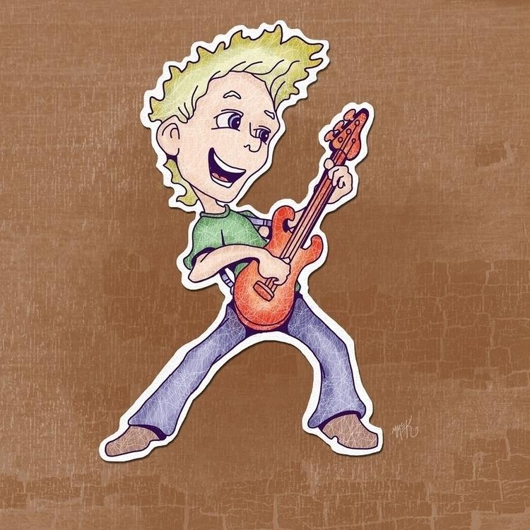 Guitarman - guitar, rock, rockandroll - mistymckeithen | ello