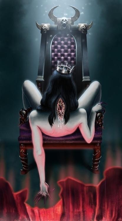 Queen Banished - originalcharacter - alfredmanzanoart | ello