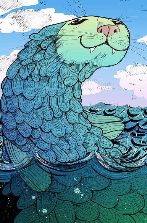 Water - illustration, characterdesign - katjuschkabudinski | ello