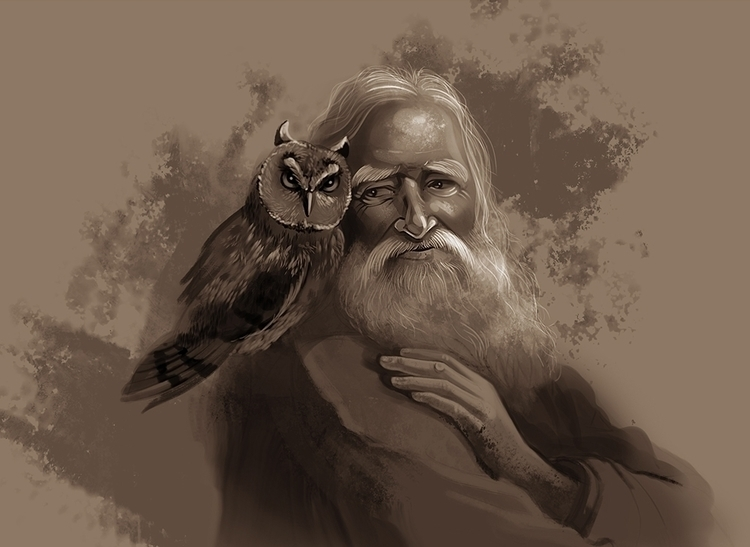 Wise man - illustration, characterdesign - dianacostin | ello