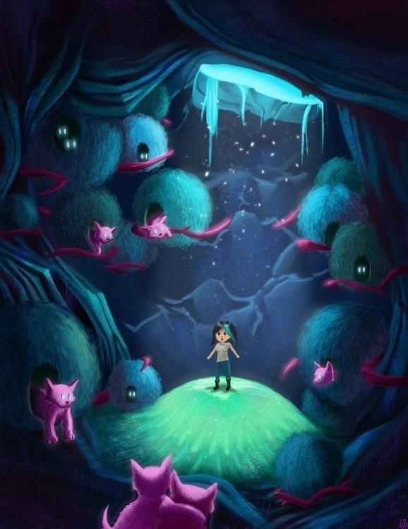 Cat Cave - illustration, alfredmanzano - alfredmanzanoart | ello