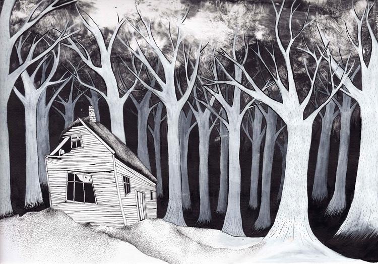 Deep deserted woods - illustration - marikeleroux   ello