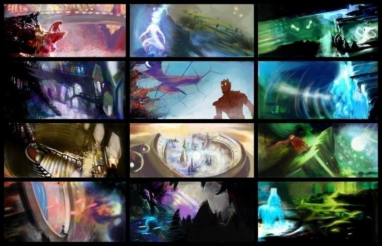 12 thumbnails - conceptart, alfredmanzano - alfredmanzanoart   ello