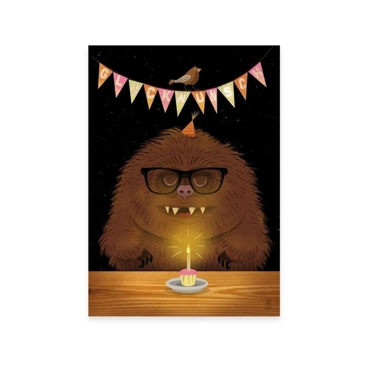 birthday - monster, illustration - reconq | ello