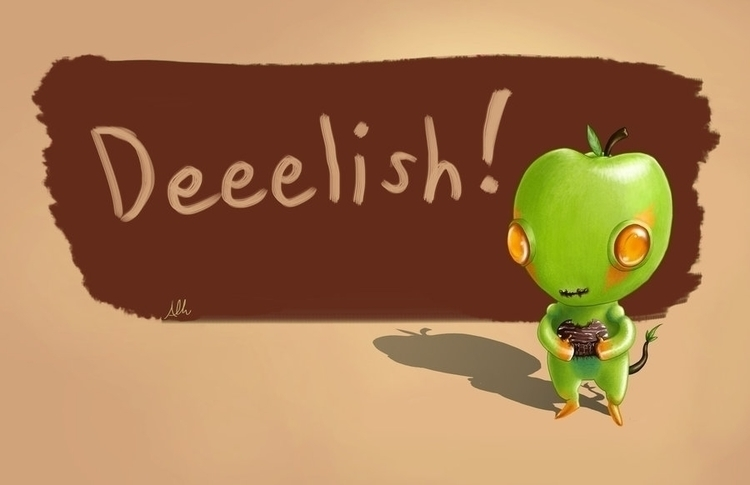 Manzana Critter - apple, manzana - alfredmanzanoart   ello
