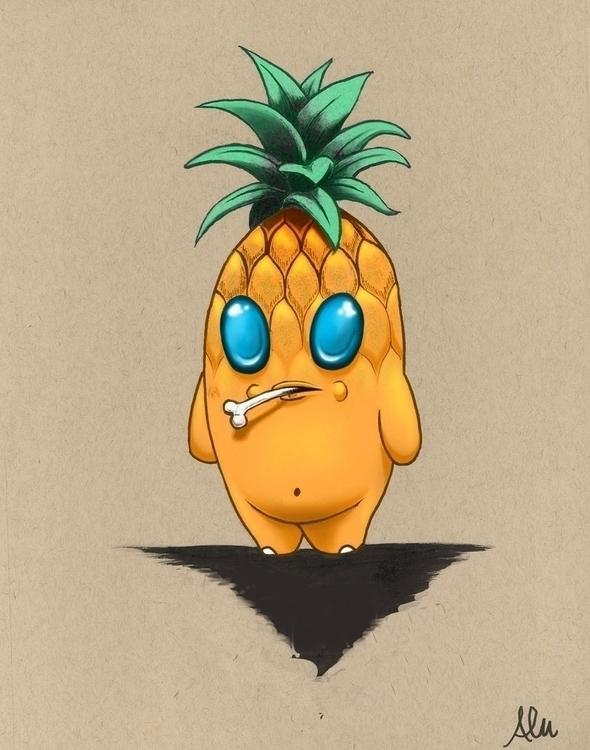 Pina Critter - alfredmanzano, pineapple - alfredmanzanoart | ello