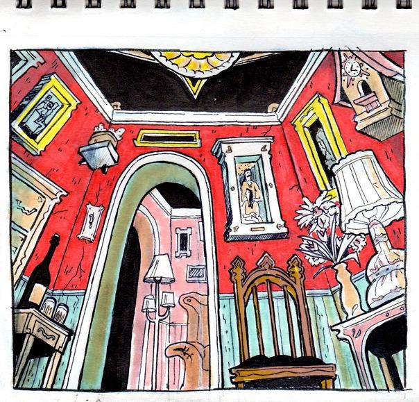 Insignificant Red Room - sketchbook - danmccool | ello